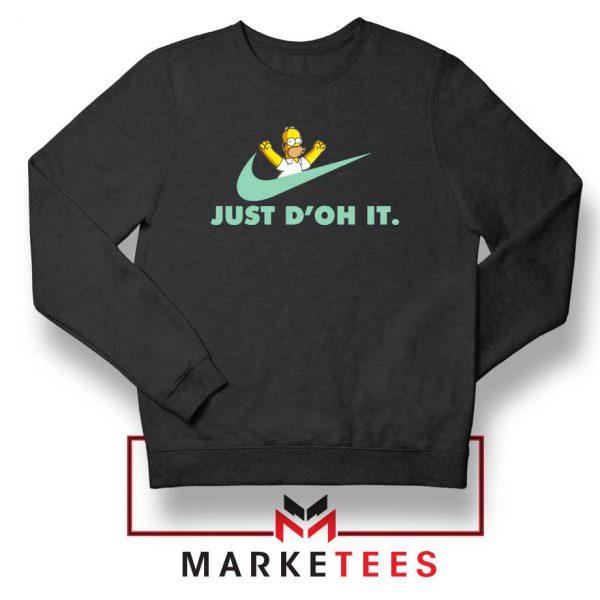 Simpson Just Do It Black Sweater