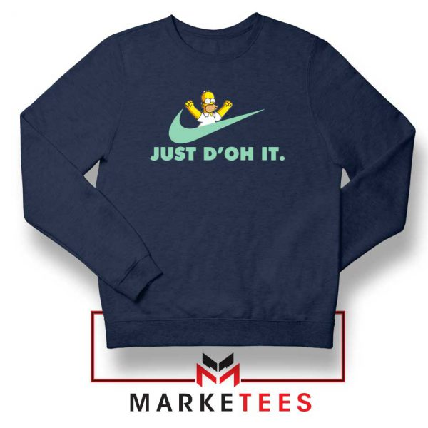 Simpson Just Do It Navy Blue Sweater
