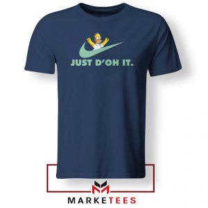 Simpson Just Do It Navy Blue Tee Shirt