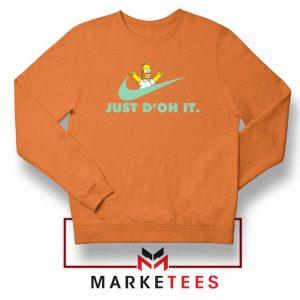 Simpson Just Do It Orange Sweater