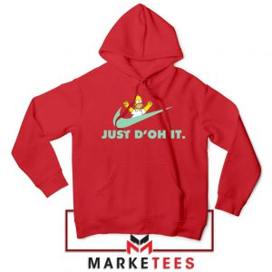 Simpson Just Do It Red Hoodie