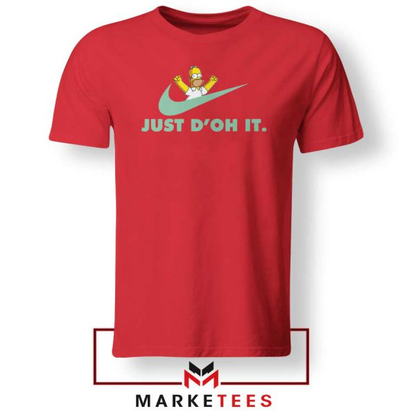 Simpson Just Do It Red Tee Shirt