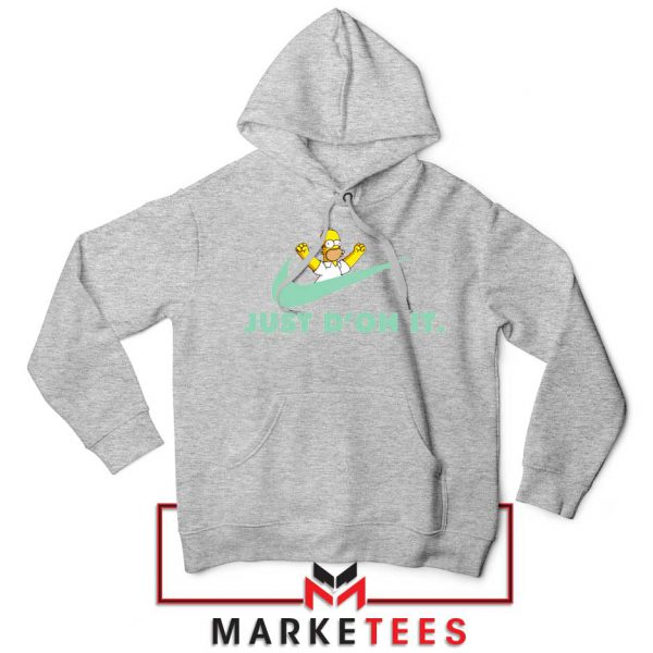 Simpson Just Do It Sport Grey Hoodie