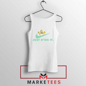 Simpson Just Do It White Tank Top