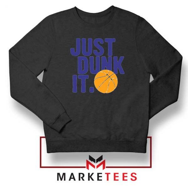 Slogan Nike Parody Black Sweatshirt