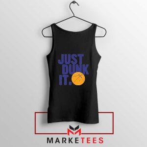 Slogan Nike Parody Black Tank Top
