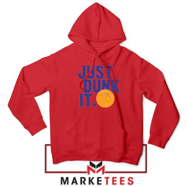 Slogan Nike Parody Red Hoodie