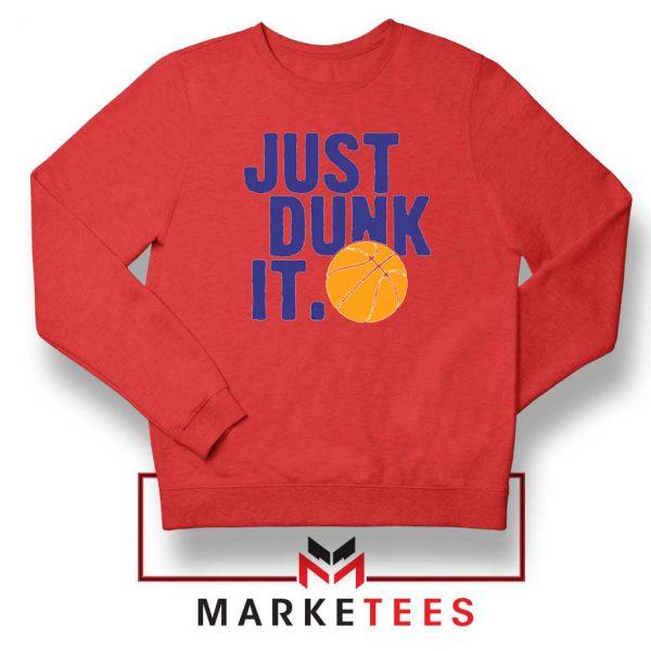 Slogan Nike Parody Red Sweatshirt