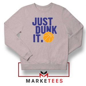 Slogan Nike Parody Sport Grey Sweatshirt