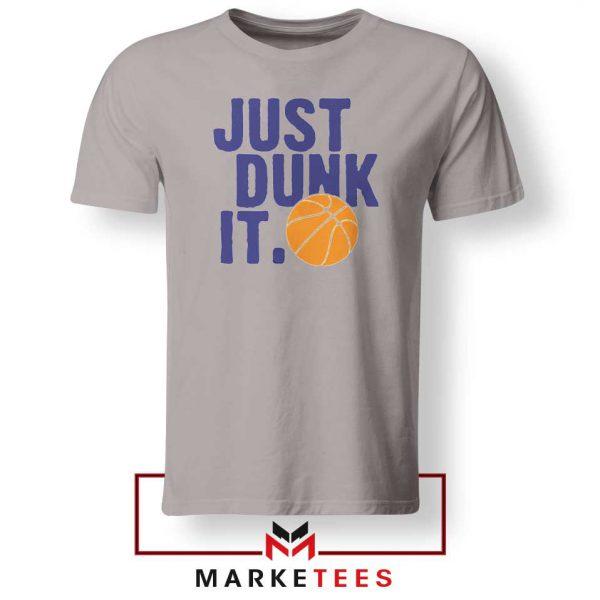 Slogan Nike Parody Sport Grey Tee Shirt