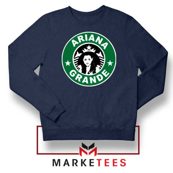 Starbucks Logo Ariana Grande Navy Blue Sweater