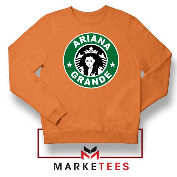 Starbucks Logo Ariana Grande Orange Sweater