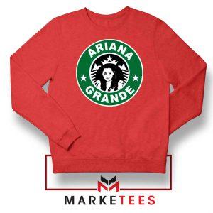 Starbucks Logo Ariana Grande Red Sweater