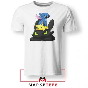 Stitch Pikachu Grinch Tee Shirt
