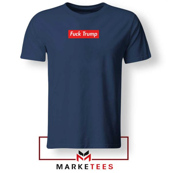 Supreme Parody Trump Navy Tshirt