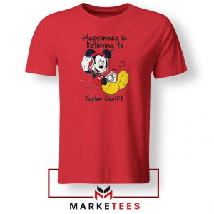 Swift Mickey Mouse Red Tee Shirt