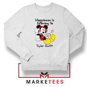 Swift Mickey Mouse White Sweatshirt