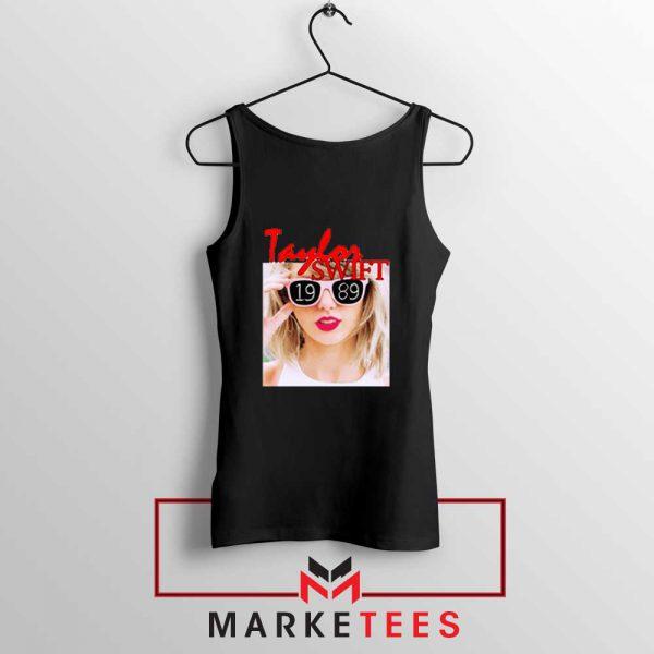 Taylor Swift 1989 Album Black Tank Top