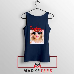 Taylor Swift 1989 Album Navy Tank Top