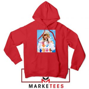 Taylor Swift Albums Signature Red Hoodie
