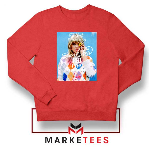 Taylor Swift Albums Signature Red Sweater