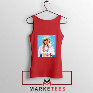 Taylor Swift Albums Signature Red Tank Top