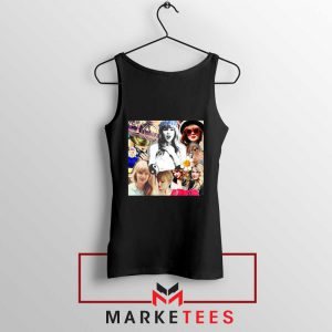 Taylor Swift Collages Black Tank Top