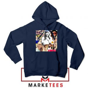 Taylor Swift Collages Navy Hoodie