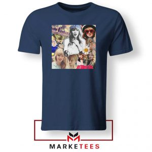 Taylor Swift Collages Navy Tshirt
