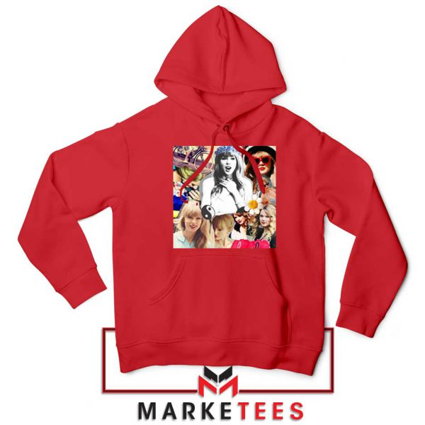 Taylor Swift Collages Red Hoodie