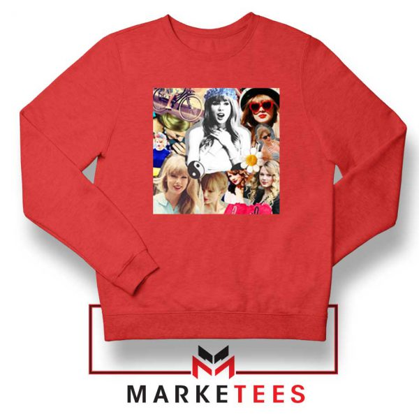 Taylor Swift Collages Red Sweatshirt