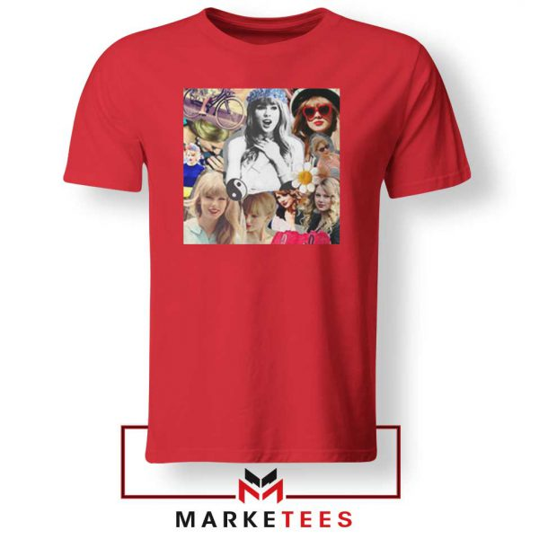 Taylor Swift Collages Red Tshirt