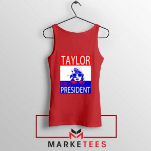 Taylor Swift For President Red Tank Top