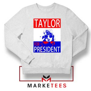 Taylor Swift For President White Sweater