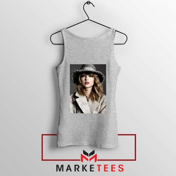 Taylor Swift Graphic Grey Tank Top