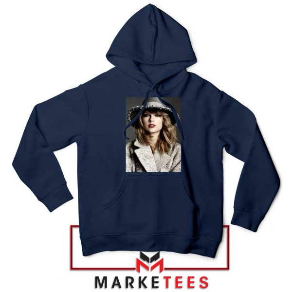 Taylor Swift Graphic Navy Hoodie