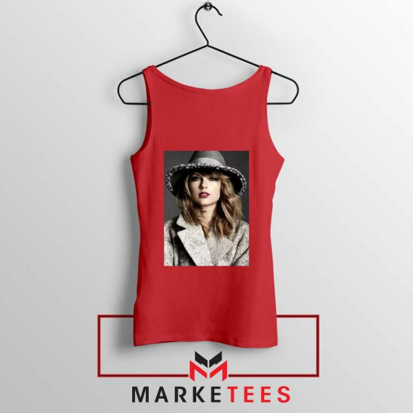Taylor Swift Graphic Red Tank Top