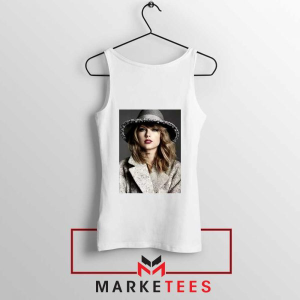Taylor Swift Graphic White Tank Top