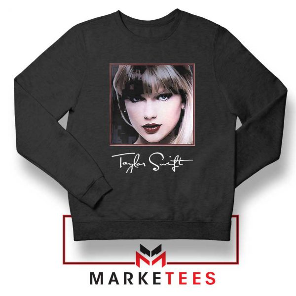 Taylor Swift Signature Black Sweatshirt