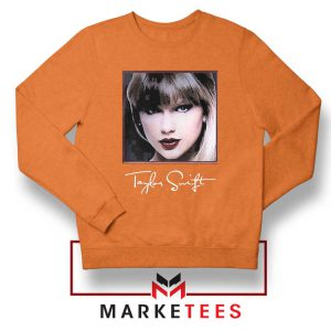 Taylor Swift Signature Orange Sweatshirt