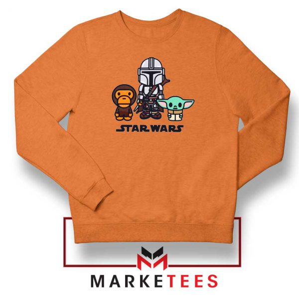 The Child Bape Baby Milo Orange Sweatshirt