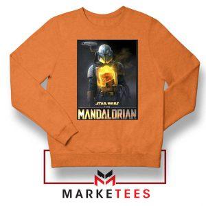 The Child Boba Star Orange Sweater