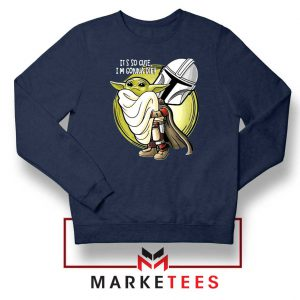The Mandalorian Hug The Child Navy Blue Sweater