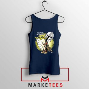 The Mandalorian Hug The Child Navy Blue Tank Top