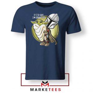 The Mandalorian Hug The Child Navy Blue Tee Shirts