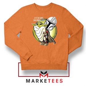 The Mandalorian Hug The Child Orange Sweater