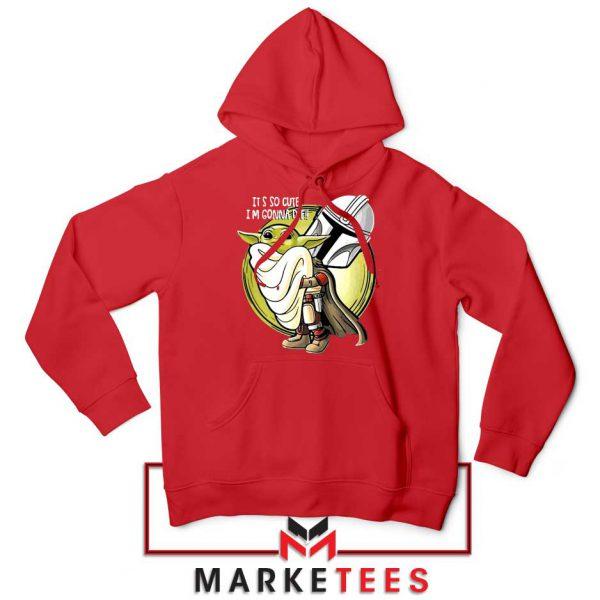 The Mandalorian Hug The Child Red Hoodie