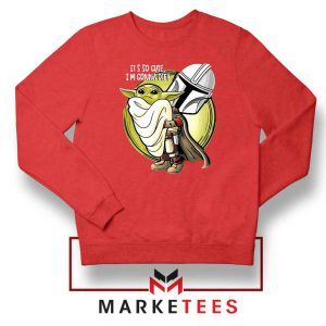 The Mandalorian Hug The Child Red Sweater