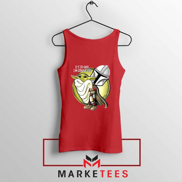 The Mandalorian Hug The Child Red Tank Top