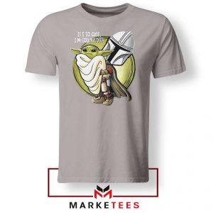 The Mandalorian Hug The Child Sport Grey Tee Shirts